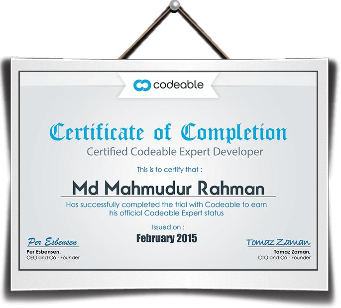 Mahmudur certificate