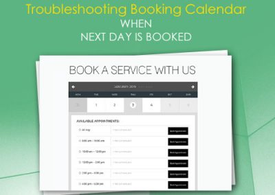 Troubleshooting Booking Calendar when Next Day is Booked