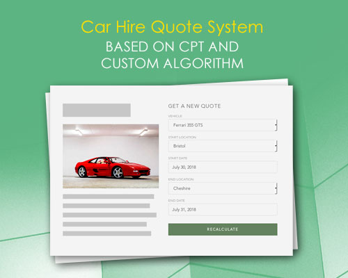 Car Hire Quote System Based On CPT and Custom Algorithm