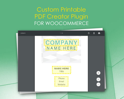 Custom Printable PDF Creator Plugin for WooCommerce - 79mplus