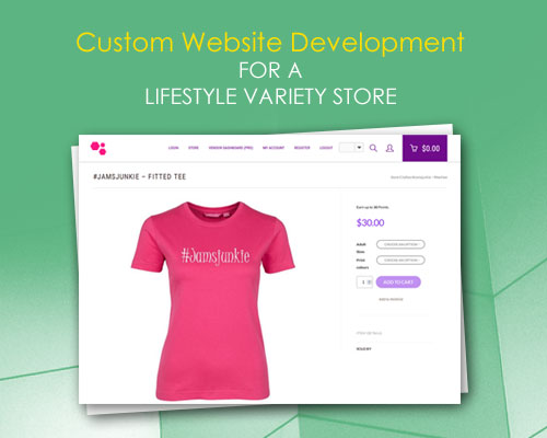 Custom Website Development for a Lifestyle Variety Store