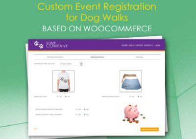 Custom Event Registration for Dog Walks based on WooCommerce