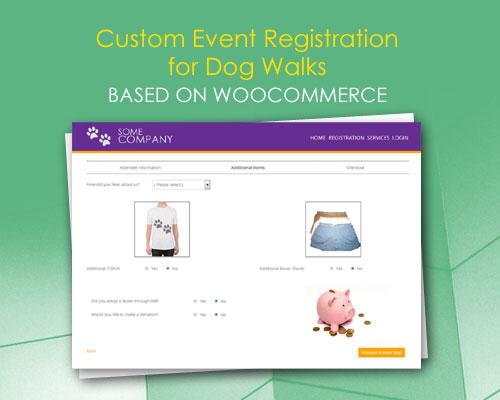 Custom Event Registration for Dog Walks based on WooCommerce