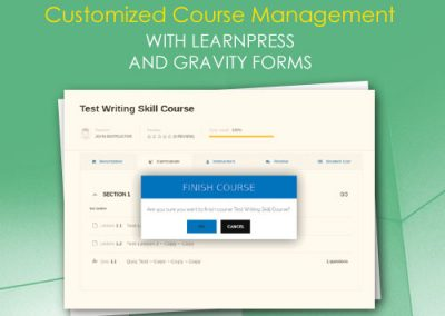 Customized Course Management with LearnPress and Gravity Forms