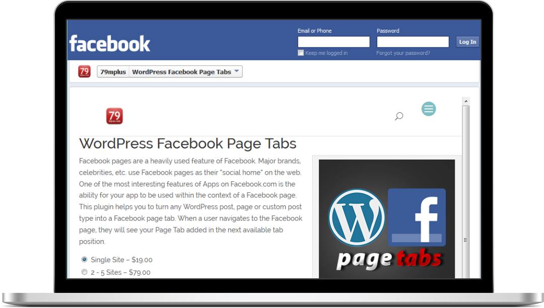 WordPress Facebook Page Tabs