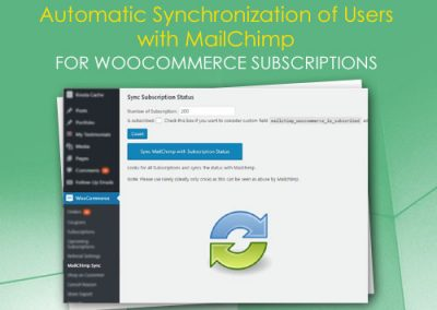 Automatic Synchronization of Users with MailChimp for WooCommerce Subscriptions