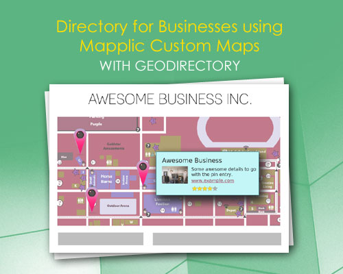 Directory for Businesses using Mapplic Custom Maps with GeoDirectory