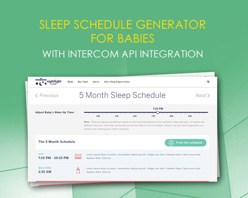 Sleep Schedule Generator for Babies with Intercom API Integration