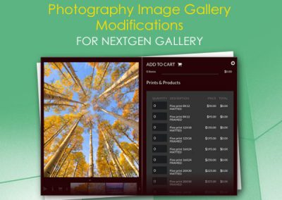 Photography Image Gallery Modifications for NextGEN Gallery