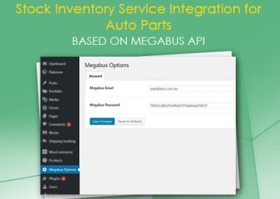Stock Inventory Service Integration for Auto Parts based on Megabus API