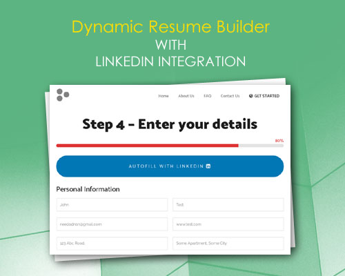 Dynamic Resume Builder with LinkedIn Integration