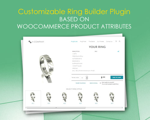 Customizable Ring Builder Plugin based on WooCommerce Product Attributes