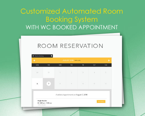 Customized Automated Room Booking System with WC Booked Appointment