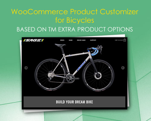 WooCommerce Product Customizer for Bicycles Based on TM Extra Product Options