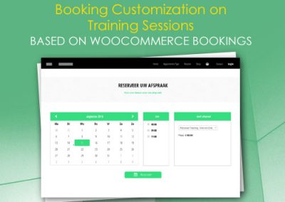 Booking Customization on Training Sessions based on WooCommerce Bookings